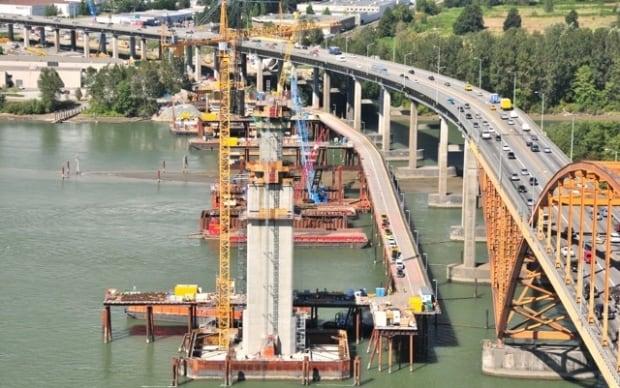 Construction of the New Port Mann Bridge Summer 2010