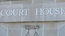 Extreme close-up of Sudbury Court House sign