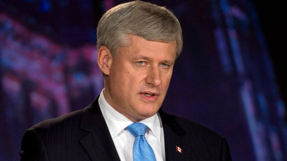 "'The economy's the No. 1 issue,"" Stephen Harper says. 'We all know we're vulnerable. We think the plan we're moving forward is not only a proven plan, but it's one that presents Canadians with the least risk.'"