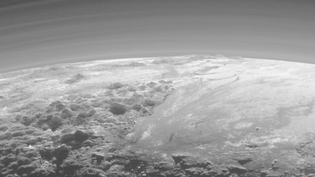 'This image really makes you feel you are there, at Pluto, surveying the landscape for yourself,' said Alan Stern, principal investigator of the New Horizons mission.
