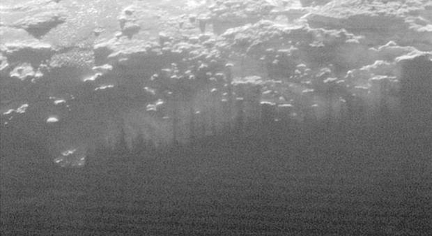 Pluto Surface haze or fog