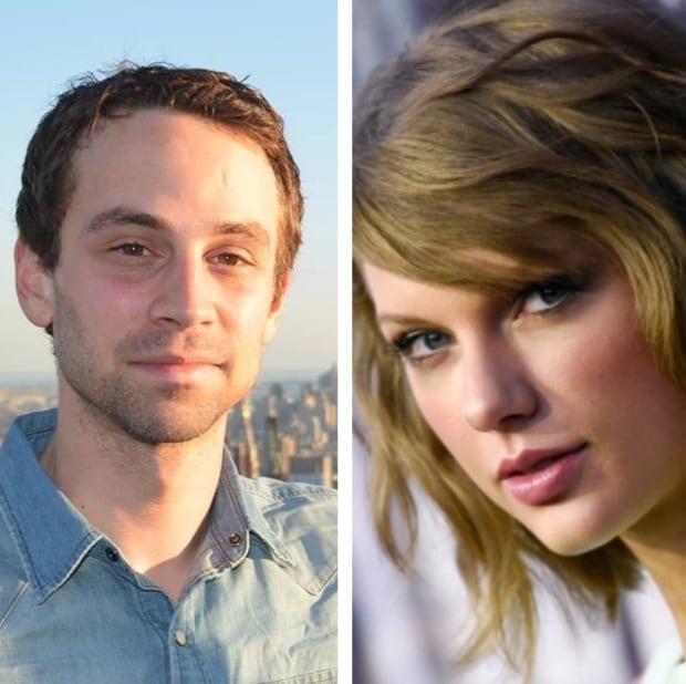 Zach Goudie and Taylor Swift side-by-side