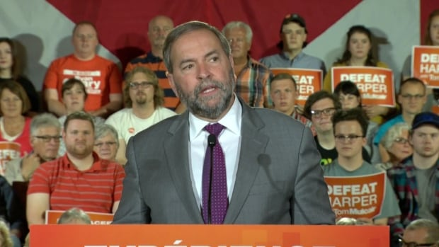 NDP Leader Tom Mulcair held a rally Sunday afternoon at the Sheraton Hotel in St. John's where he apologized for a past remark in which he used Newfie as a synonym for stupidity.