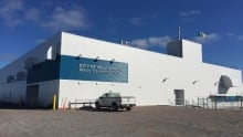 exterior of new Yellowknife water treatment plant September 2015