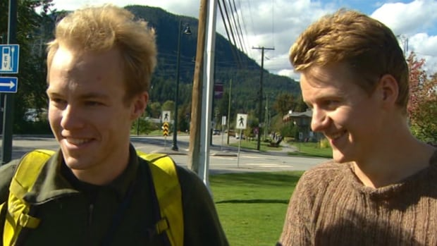 These two UBC students were stranded near Lillooet, B.C. while they were out maintaining trails in the area.