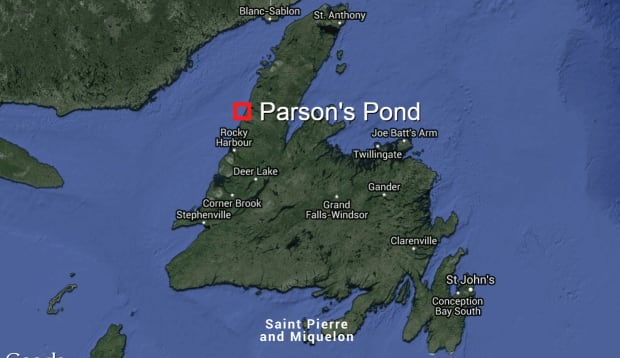 Parson's Pond, newfoundland map