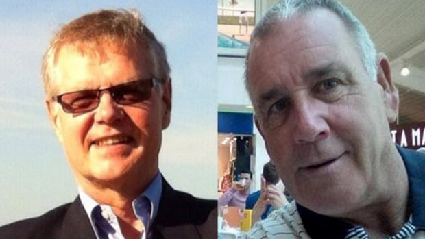 Canadians John Ridsdel, left, and Robert Hall were abducted along with a Norwegian man and Filipino woman by gunmen at an upscale resort and marina on Samal Island, Philippines.