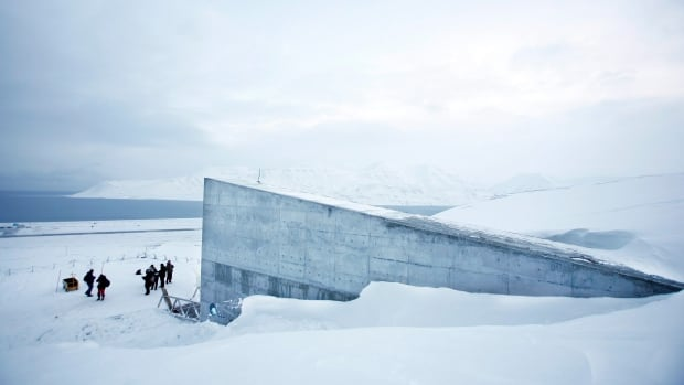 """The Svalbard Global Seed Vault is seen Monday Feb. 25, 2008 in Longyearbyen, Norway. A """"doomsday"""" vault built to withstand an earthquake or nuclear strike has stood for years in the permafrost of an Arctic mountain, where it protects millions of agriculture seeds from man-made and natural disasters."""