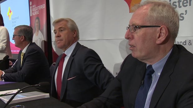All three party leaders attended the Newfoundland and Labrador Registered Nurses' Union debate Tuesday.