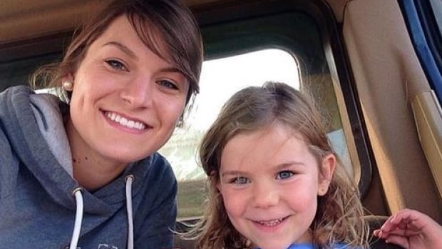 Kelsey Dale shared this photo on Twitter with the caption: I always get the cutest co-pilots! #womenofharvest15 #crazyhairdontcare.