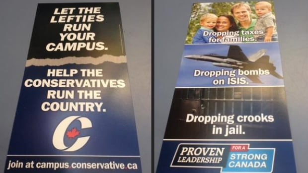 The Conservatives are attacking campus lefties and boasting about 'dropping bombs on ISIS' in an attempt to recruit young people to the party's campaign.