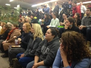 Audience at Yukon College candidates forum