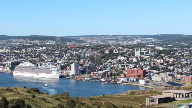 A report estimates that St. John's could see 100,000 visitors in 2017 from cruise ships like the Regal Princess, shown here in port in 2015.