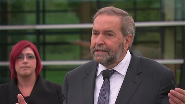 NDP Leader Tom Mulcair on Friday unveiled a $105-million plan to boost Canada's forestry sector, which he said has been neglected under the government of Conservative Leader Stephen Harper, who, Mulcair said, has focused all his energy on the oil and gas industry.