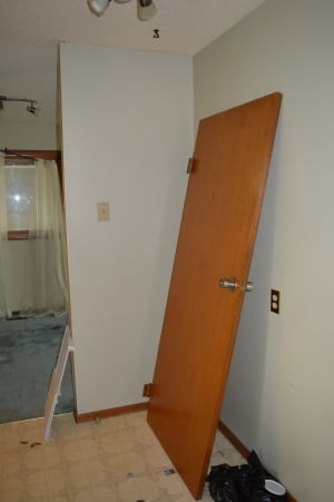 Door removed from wall