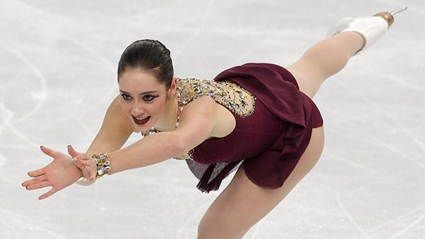 Canada's Kaetlyn Osmond, seen here at a previous event, won gold in her season debut on Saturday.