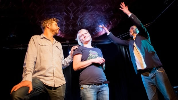 Stephen Sim, Nadine Antler and Lee White at the Winnipeg Improv Festival.