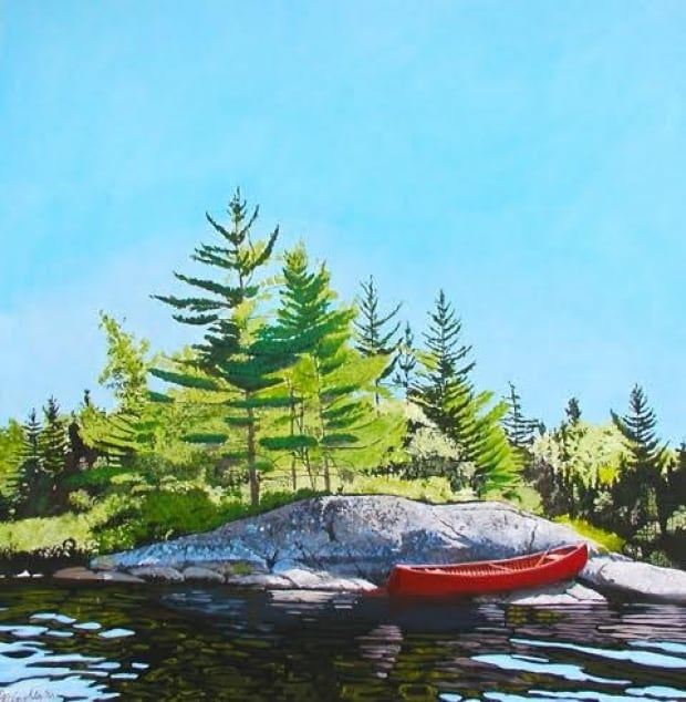 Peter Gough Painting - Canoe 2