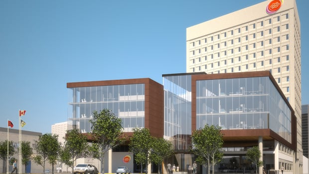 An artist's rendering of what Manitoba Liquor and Lotteries' headquarters on Kennedy Street would have looked like if the project had gone ahead.