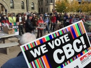 CBC rally, Winnipeg