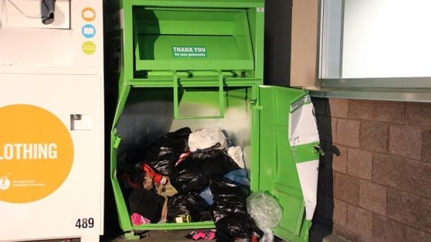 Many people already get rid of old clothing by putting it in donation bins run by charities.