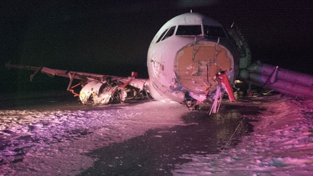 Air Canada Flight 624 crashed in Halifax on March 29, 2015.
