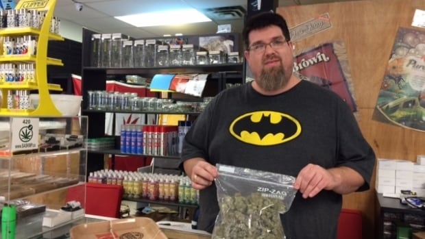 Jeffrey Lundstrom, owner of the Skunk Funk head shop in Saskatoon, advocates decriminalizing marijuana use.