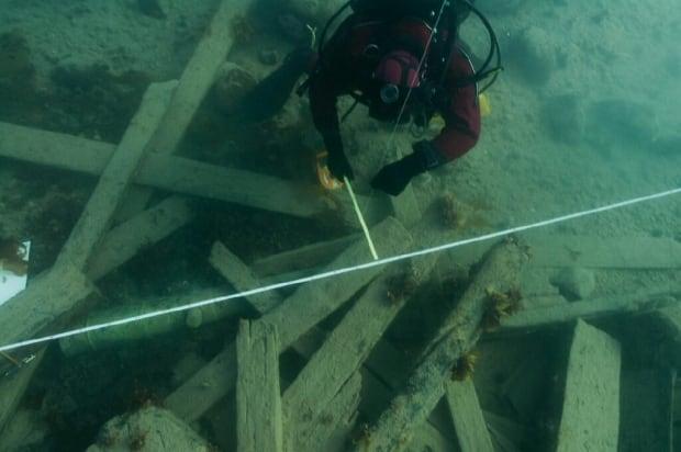 Surveying debris field of HMS Erebus