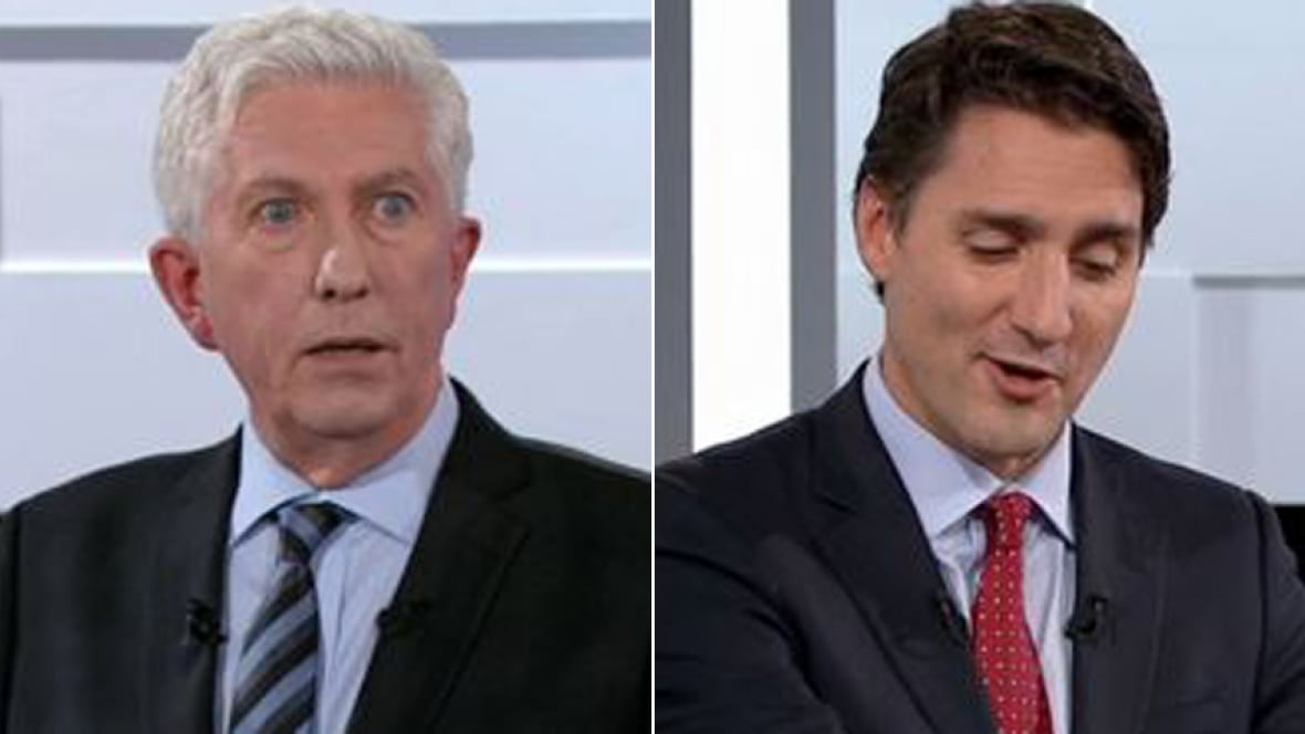 Justin Trudeau calls Gilles Duceppe 'my love' in French