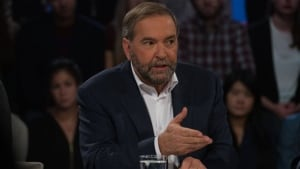 Tom Mulcair appears on Tout le Monde en Parle