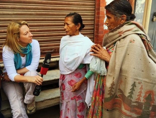 Adrienne Arsenault in Nepal