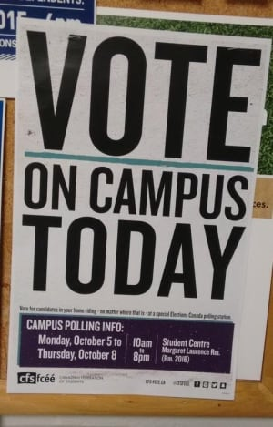 campus polling station