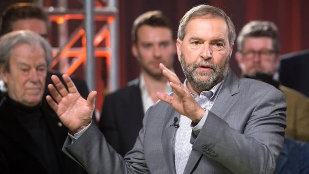 NDP Leader Tom Mulcair pledged that closing the stock option benefit would lead to a dollar-for-dollar transfer to the fight against poverty.