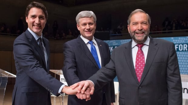 Liberal Leader Justin Trudeau, Conservative Leader Stephen Harper and NDP Leader Tom Mulcair are heading into the final two weeks of the election campaign, but it seems Trudeau and Harper have pulled ahead.