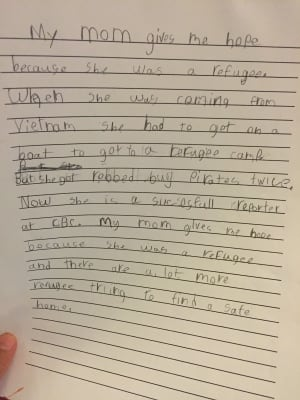 """Judy Trinh's son's letter on """"hope"""""""