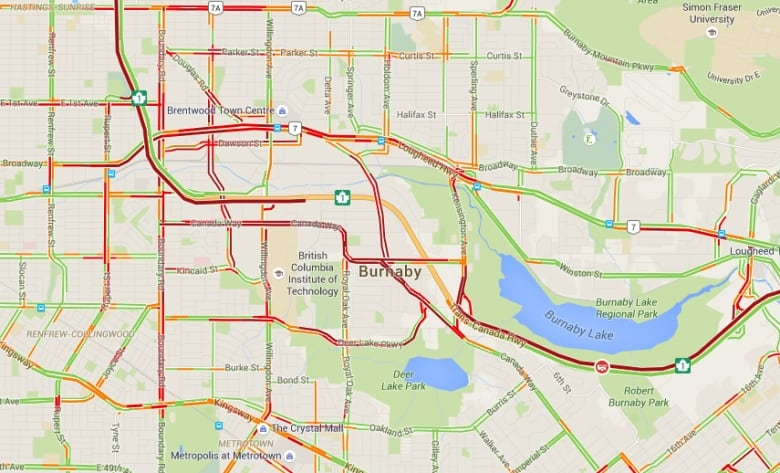 Highway 1 reopened in both directions in Vancouver, Burnaby