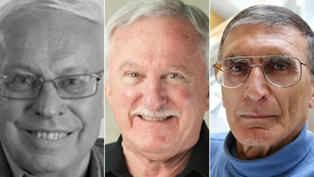 The 2015 Nobel Prize in Chemistry was won by Sweden's Tomas Lindahl (left), Paul Modrich (centre) of the U.S. and Turkish-American Aziz Sancar.