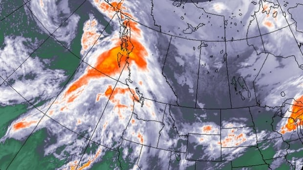 Environment Canada is warning of potentially damaging winds, as the remnants of Hurricane Oho head toward the West Coast of B.C.