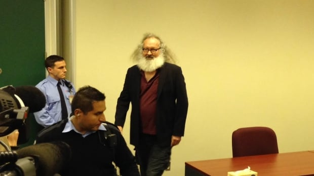 Hollywood actor Randy Quaid arrives at his detention review hearing on Oct. 8, 2015, following his arrest on Oct. 6, for the second time this year, in Montreal.