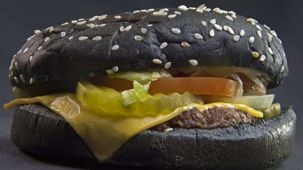Recently released Burger King Halloween Whopper is seen on October 5, 2015, in Centreville, Virginia.