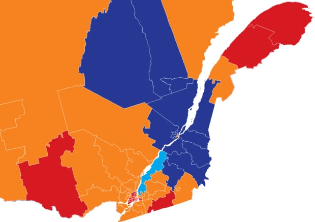 Quebec projections as of October 9