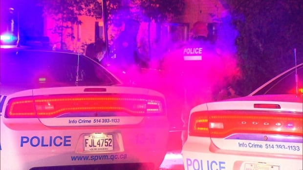 Montreal police say a man was stabbed in the chest but they do not fear for his life.