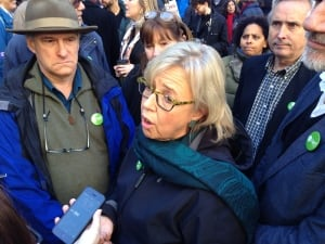 Elizabeth May protest pipeline Montreal
