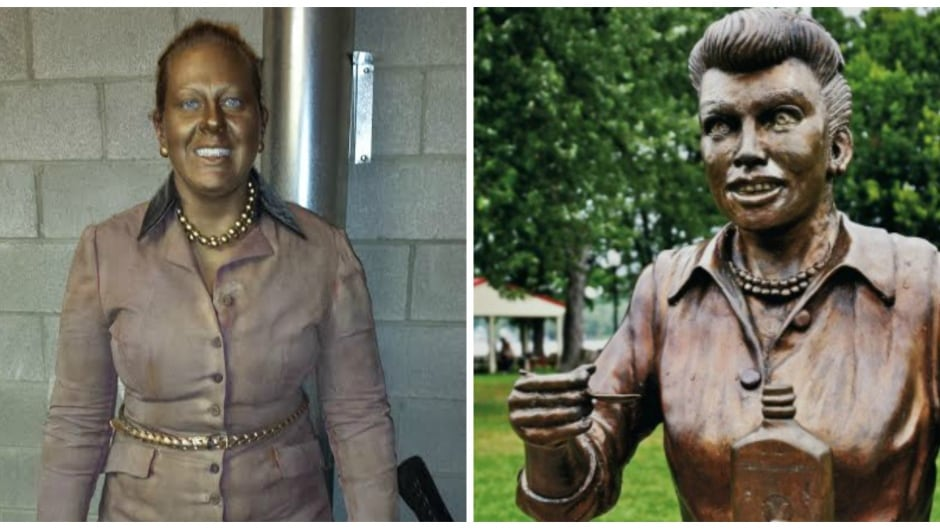 The statue-turned-real-life-'Scary Lucy' will be haunting Chautauqua Mall in Jamestown, N.Y., leading up to Halloween.