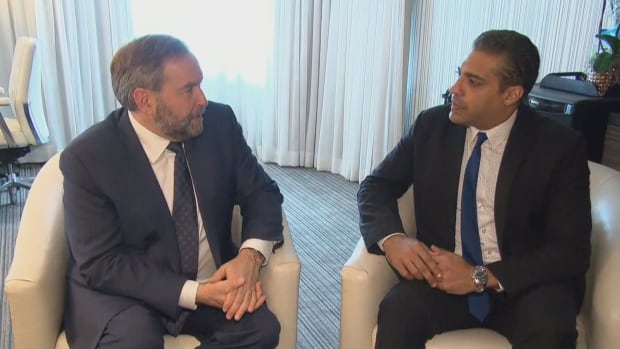 Canadian journalist Mohamed Fahmy thanked Tom Mulcair for supporting his release from an Egyptian prison