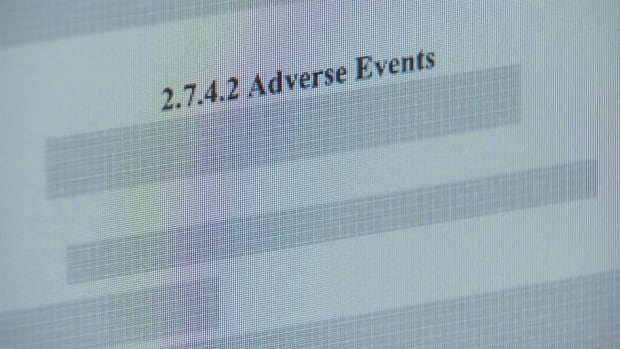 Adverse events redaction