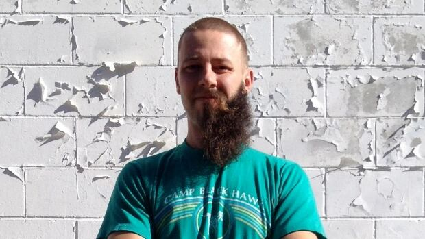 Justache October's founder and lead organizer, Jason Friesen. The group, whose supporters remove facial hair to raise attention to modern slavery during the month of October, will be hosting a 30-Hour Standoff Friday through Saturday in Winnipeg.