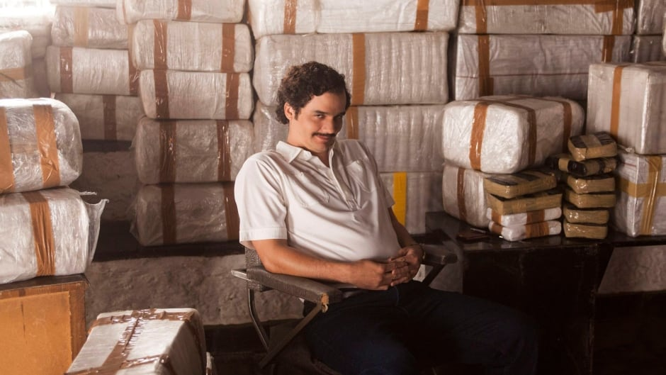 Wagner Moura as drug lord Pablo Escobar, in the Netflix series Narcos. A location scout for the series was murdered while working in Mexico on Sept. 11.