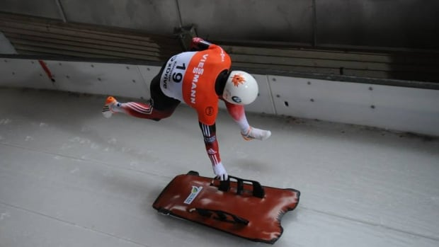 Canadian athlete Evan Neufeldt says he will have to borrow sleds from his competitors to participate in practice runs before Olympic qualifying races in Switzerland because an airline misplaced his own customized equipment.