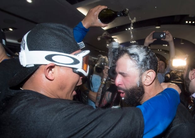Toronto Blue Jays Bautista celebration